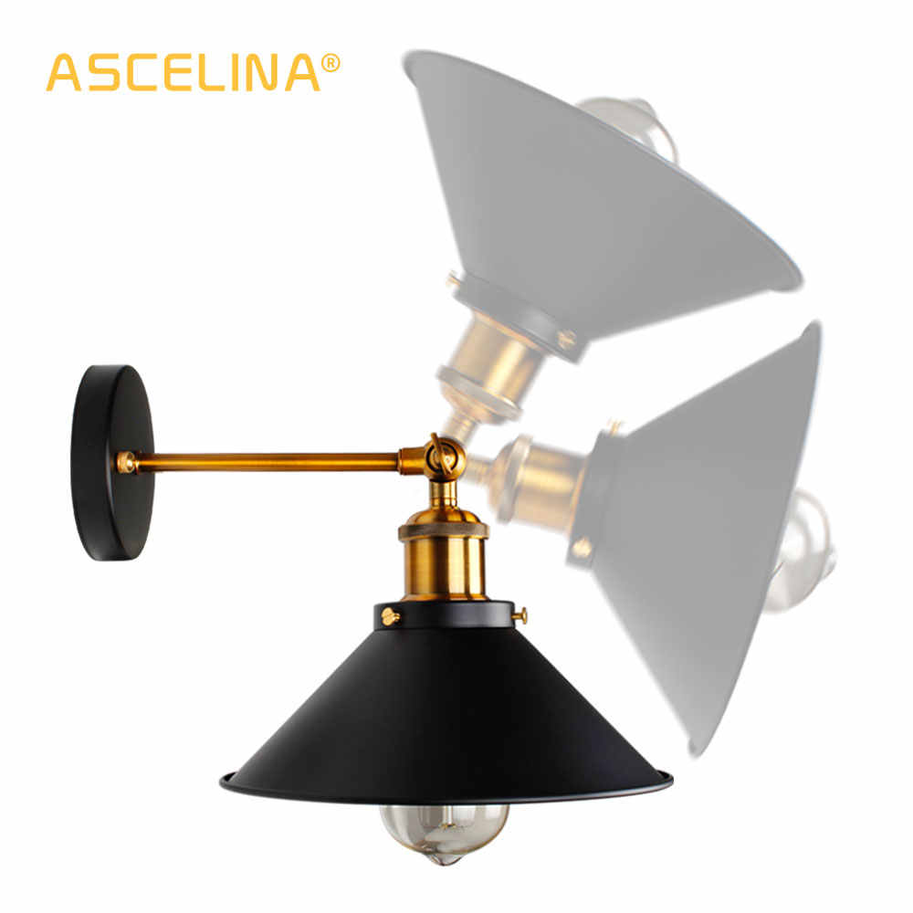 Винтажный Лофт светодиодный настенный светильник для дома промышленный Декор Ретро ванная комната освещение Железный Абажур E27 Эдисон настенные светильники