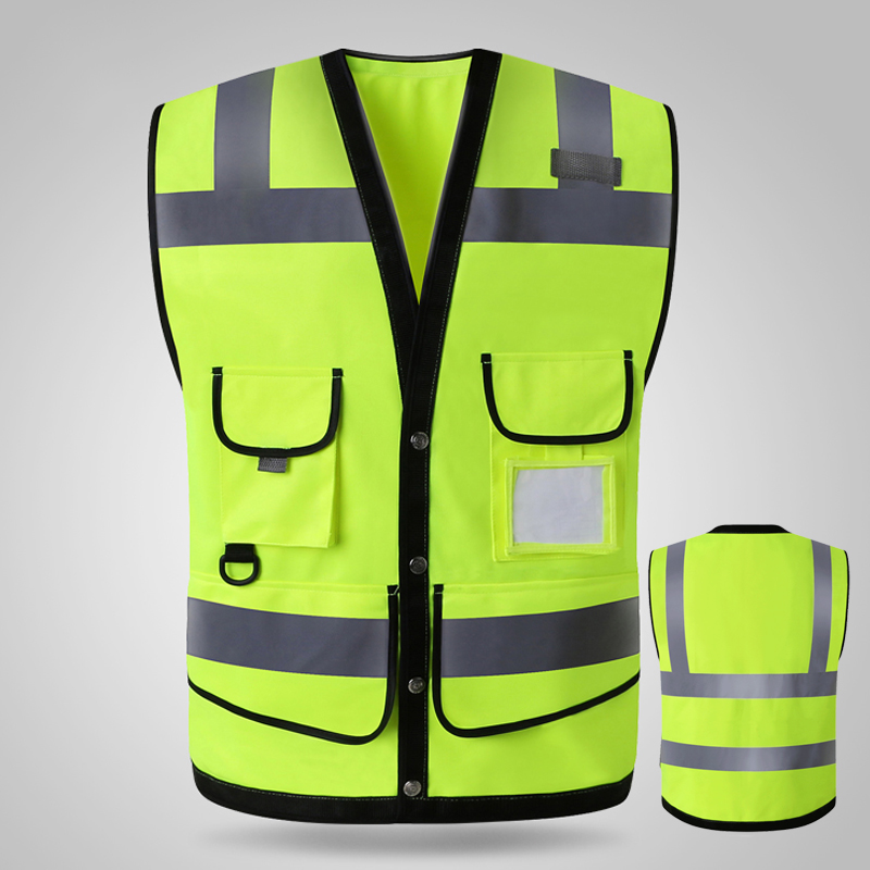 Hi vis yellow Safety vests reflective waistcoat Hi vis yellow Safety vests reflective waistcoat