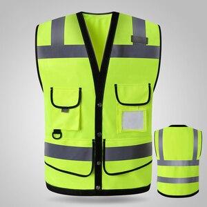 Image 1 - Привет vis желтые светоотражающие жилеты безопасности жилет