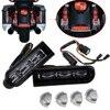 Motorcycle Black Accent Saddlebag Filler Inserts Support LED Lights For Harley Touring FLTRU Road Glide Ultra