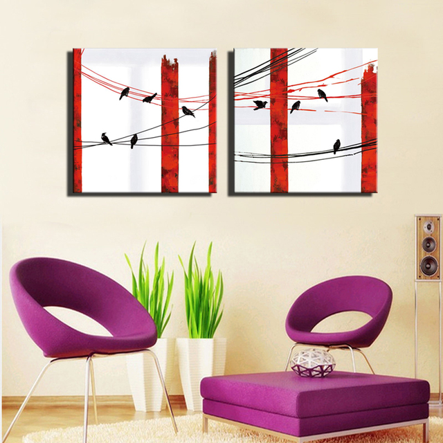 Abstract Birds Wall Art Posters Unframed Nordic Style Animals Sparrow Bird On the Line Modern Home  sc 1 st  AliExpress.com & Abstract Birds Wall Art Posters Unframed Nordic Style Animals ...