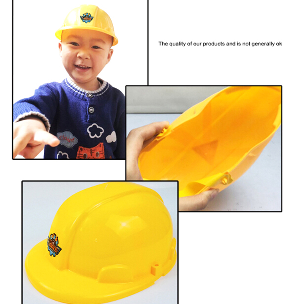 Yellow Simulation Safety Helmet Pretend Role Play Hat Toy Construction Funny Gadgets Creative Kids Children Gift New