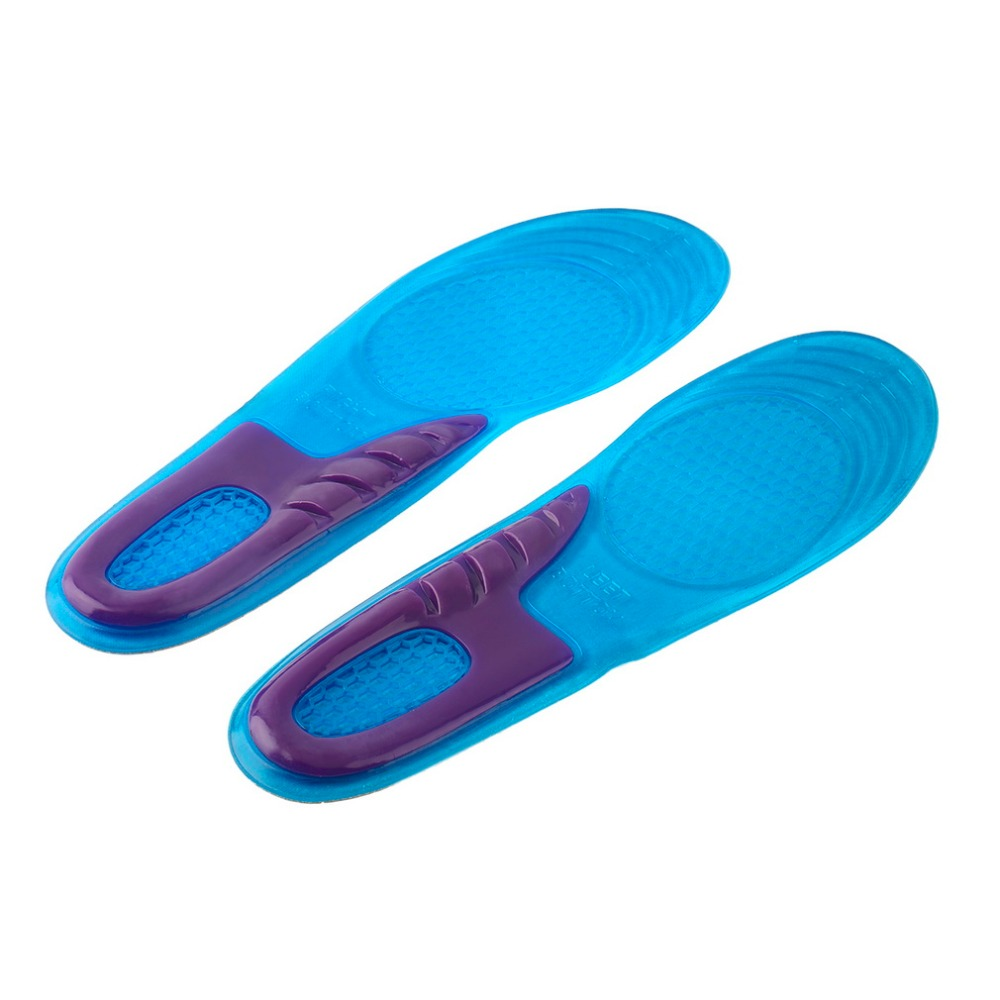 1pair Women Sports Massaging Breathable Silicone Gel Insoles Arch Support Orthopedic Plantar Fasciitis  Popular Worldwide Sale 2016 1 pair large size orthotic arch support massaging silicone anti slip gel soft sport shoe insole pad for man women