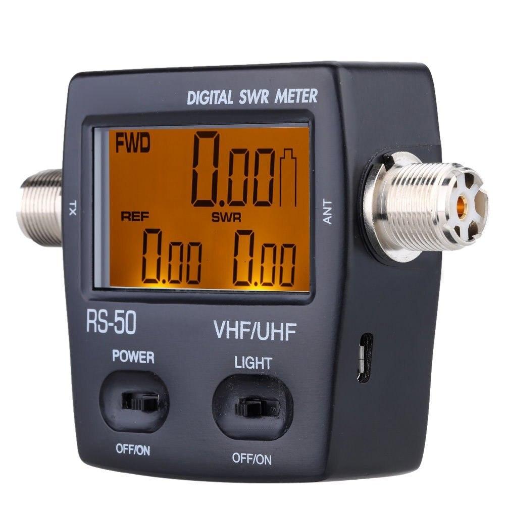 RS-50 Digitale SWR/Watt Meter NISSEI 125-525 MHz UHF/VHF M Typ Steckverbinder für TYT Kenwood Baofeng Led-bildschirm Radio Power Zähler