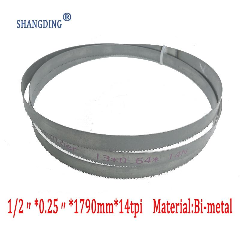 "70.5""x 1/2"" x 0.25"" or 1790*13*0.65*14tpi bimetal M42 metal bandsaw blades for European band saws"