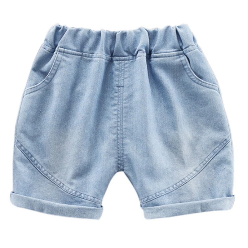 Summer Children Boys Girls Solid Print Denim Short Pants Trousers Kids Casual Shorts title=