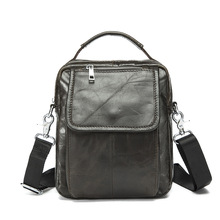 factory direct sale Hot style oblique satchel vertical cowhide leather men's bags single shoulder bag