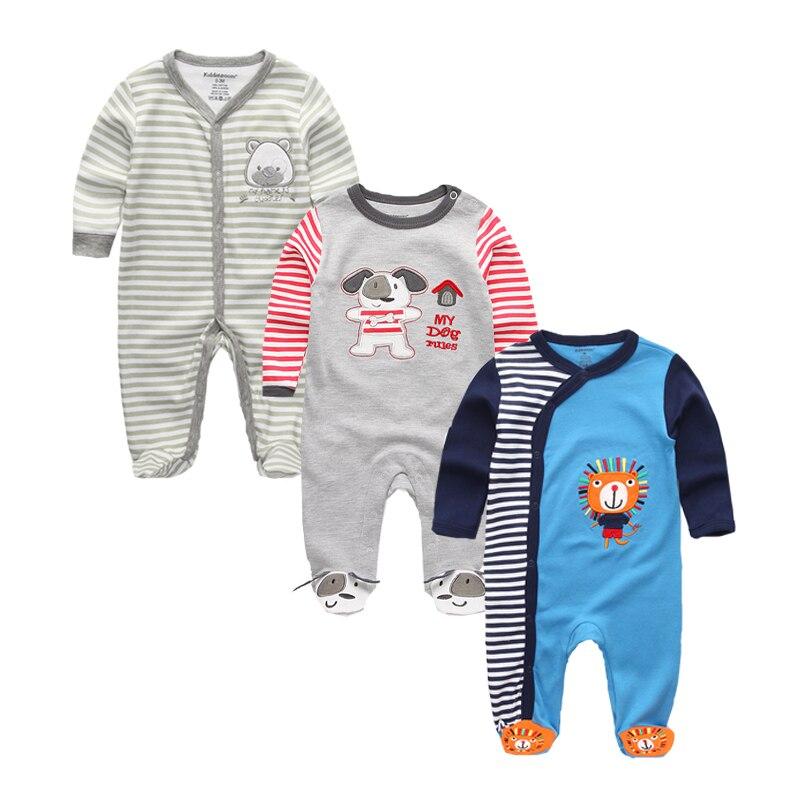 PüNktlich Baby Kleidung Strampler 100% Baumwolle Fuß Abdeckung Baby Pyjamas Neugeborenen Nachtwäsche Langarm Jungen Mädchen Decke Schwellen