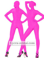Hot Pink Fullbody Spandex Zentai Suit halloween cosplay costumes the most popular catsuit