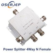 RF Coaxial Divisor de 1 a 2/3/4/8 Way Poder Splitter 380 2500 MHz Sinal 50ohm Booster Divisor N fêmea splitter Cabo de Ligação