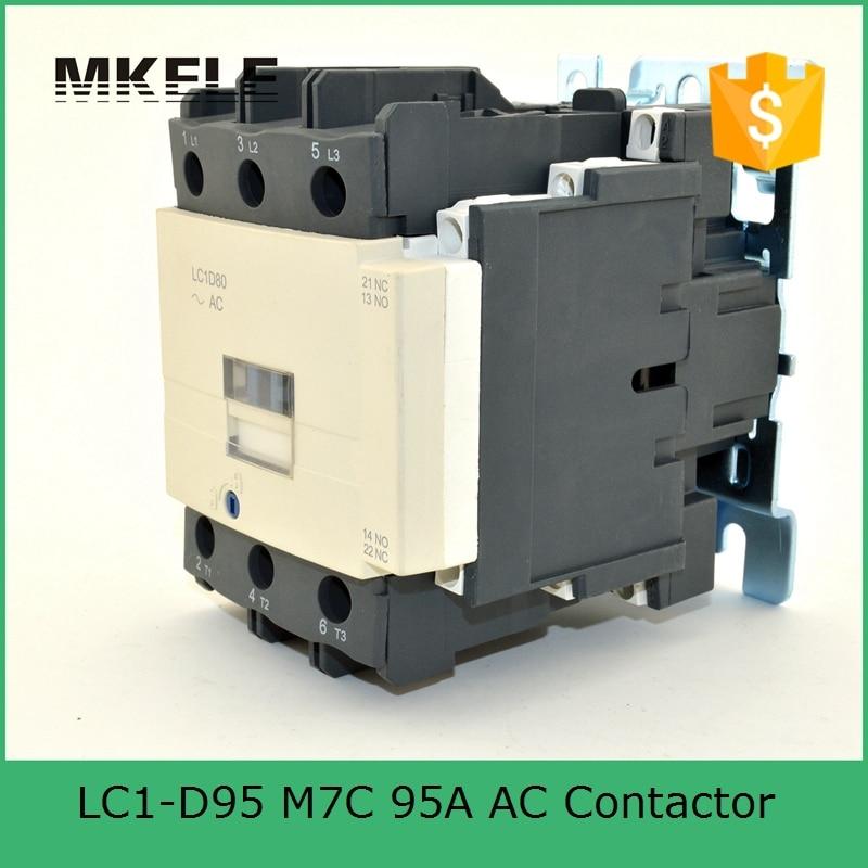ФОТО magnetic contactor LC1-D9511 Q7C 3P+NO+NC contactor telemecanique types of ac magnetic contactor 95A 380V coil voltage