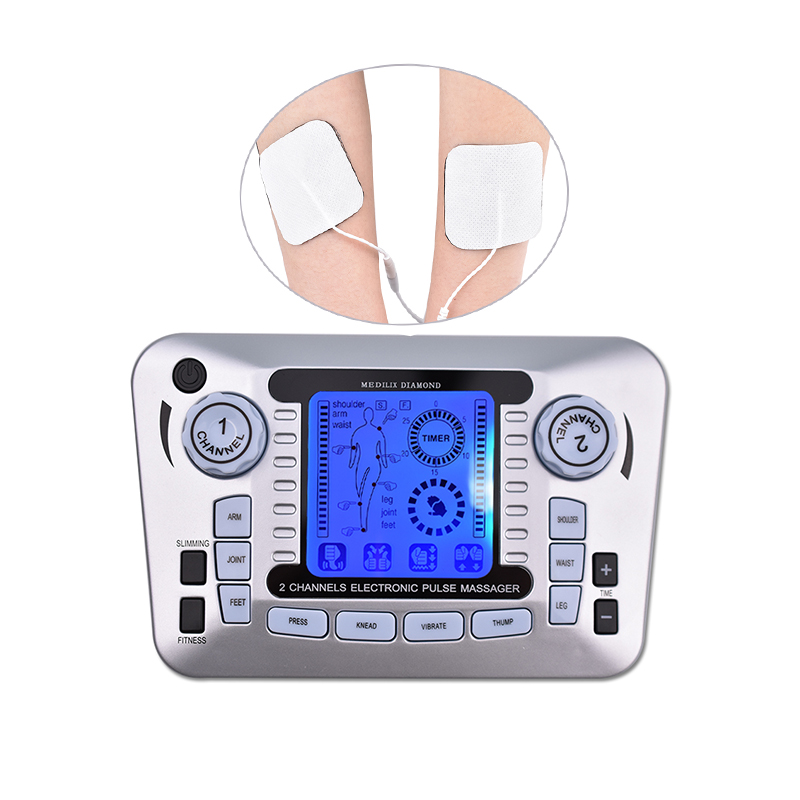 Pulse Massager Electric EMS Muscle Stimulator Tens Acupuncture Low Frequency Physiotherapy Massage Fat Burner Slimming Machine digital therapy machine tens ems massager portable electronic pulse massager legs neck back massagae slimming muscle stimulator