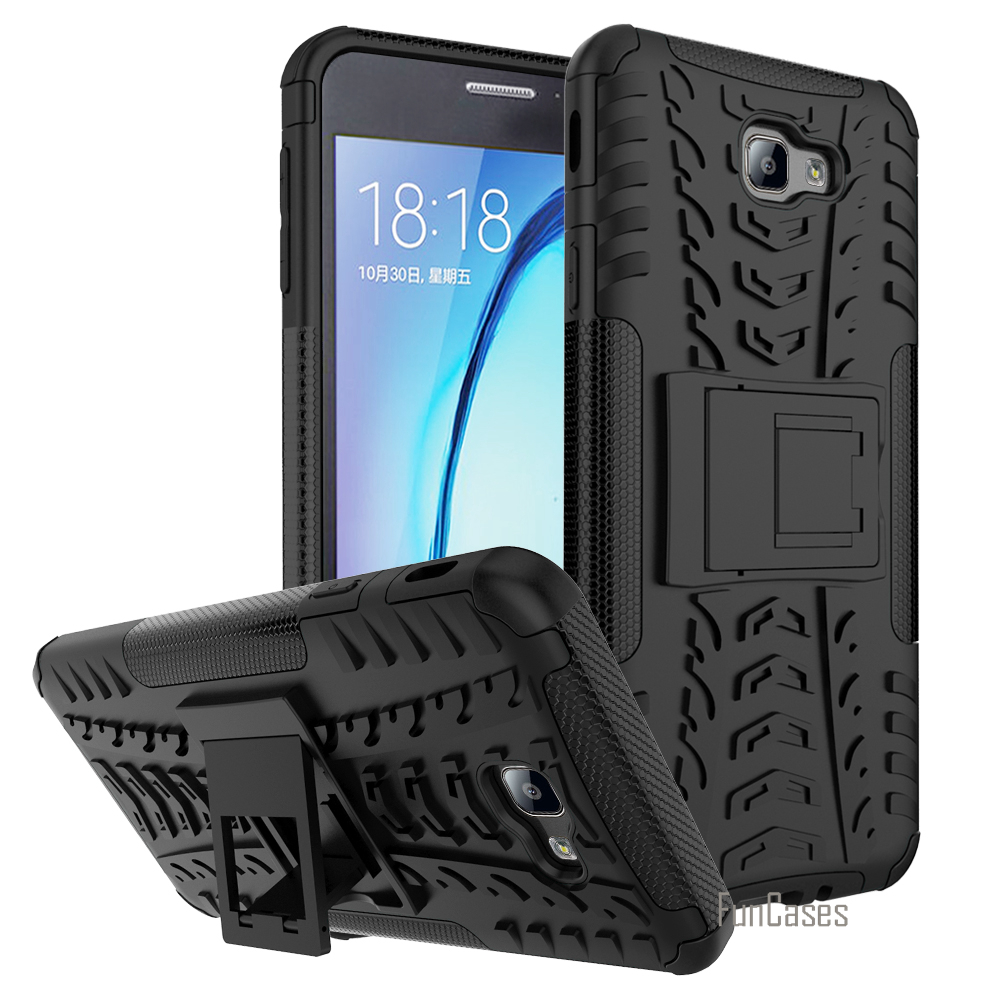 For Samsung Galaxy J7 Prime Case Cover Anti Knock 5.5 Inch Hybrid Plastic Back Armor Cover Phone Cases for Samsung J7 Prime Bags