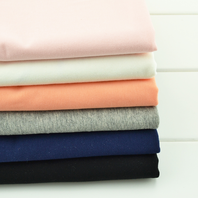 165cmx50cm Cotton knitted t-shirt fabric summer  cotton legging tight fitting high-elastic pure color cloth 280g / m