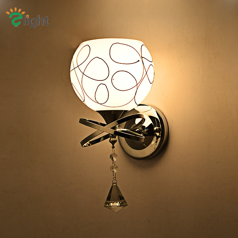 Special Offer Europe Modern Simple Plated Steel Led Wall Lamp Lustre De Cristal Wall Lamp ...