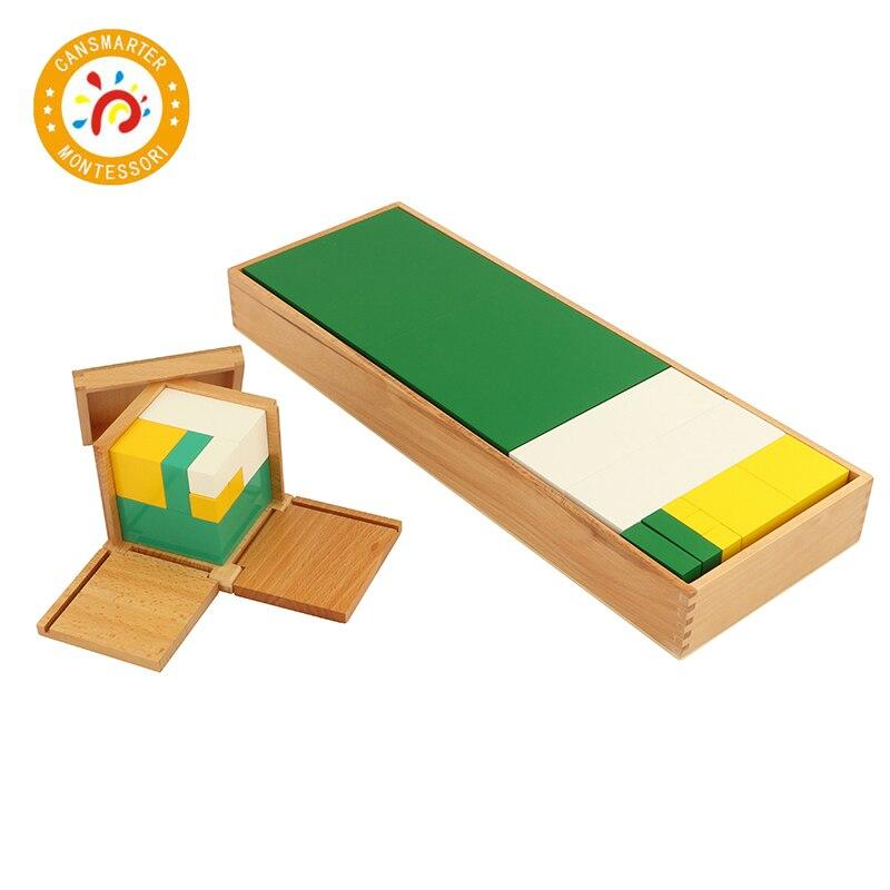 Matériel Montessori haute qualité bois mathématiques apprentissage puissance de 2 Cube et puissance de 3 Cube bébé jouet pour enfants aides pédagogiques