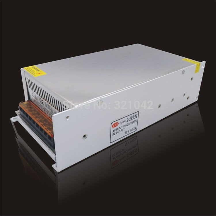 12v Switching Power Supply 800w 66.7A Non-Waterproof Led Driver AC220V For Strip Lamps wtf d12050a 50w waterproof led strip power supply 12v