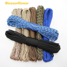 112 colors Paracord 550 Paracord Parachute Cord Lanyard Rope Mil Spec Type III 7Strand 100FT Climbing Camping survival equipment