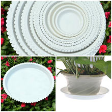 Creative Plastic Round Flower Pots tray Hydroponic Aquarium Insert Plants Growth Flower Pot Tray Garden Supplies(China)