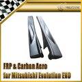 New Car Styling For Mitsubishi Evolution EVO 8 9 VTX Cyber Carbon Fiber Side Skirt