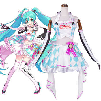 Anime Vocaloid 2019 Hatsune Miku Racing Cosplay Costume Clay Motorcycle Suits Lovely Lolita Dress Uniform Outfit For Women - DISCOUNT ITEM  20% OFF All Category
