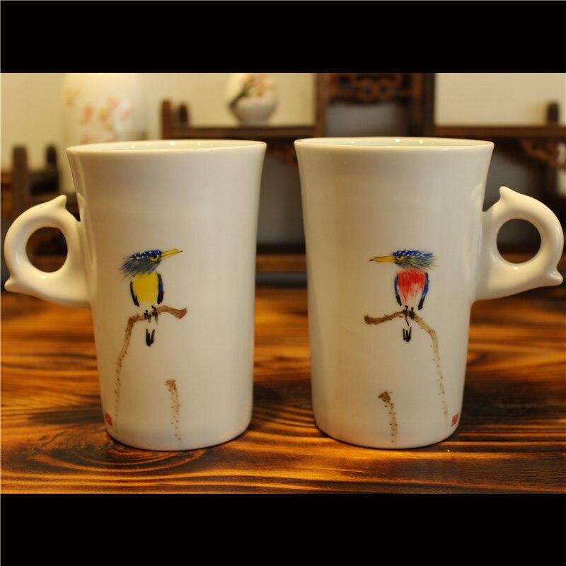 drinkware porcelāns balta keramika zakka tējas krūze krūze - Virtuve, ēdināšana un bārs - Foto 3