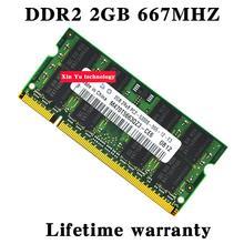 Lebenslange garantie Für samsung DDR2 2 GB 4 GB 667 MHz PC2-5300S DDR 2 2G Original notebook speicher Laptop RAM 200PIN SODIMM