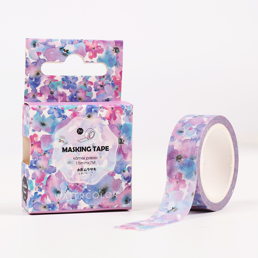 The Flowers Of Imagination Decorative Paper Washi Tape DIY Scrapbooking Masking Tape School Office Supply Escolar Papelaria