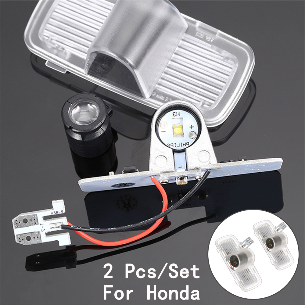 Ghost Shadow Projetor LED Courtesy Lens Include Only For Honda/Accord/Crosstour 5W 2Pcs/Set With Logo
