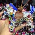 Costumbre Sparkly Bling regalo caballo Rhinestone encantos del bolso brillo encantos de la cadena dominante de lujo hechos a mano regalo de la mujer accesorios de la etiqueta
