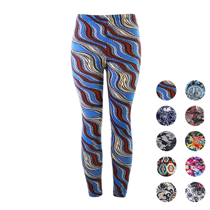 Yesello Summer Print Flower   Leggings   Leggins Plus Size Women   Leggings   Pantalones   Leggings   Soft Skin Material Nine Female Leggins