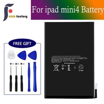 Клубная фабрика Замена батареи для iPad Mini 4, с полным набором инструментов для ремонта, новый 0 цикл 5124mAh