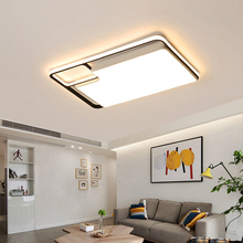 New Modern LED Chandeliers For living room bedroom dining Square ceiling chandelier Surface mount remote control