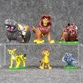 6 unids/set el rey león simba nala timon figura modelo pvc figuras de acción juguetes clásicos mejores regalos de los niños