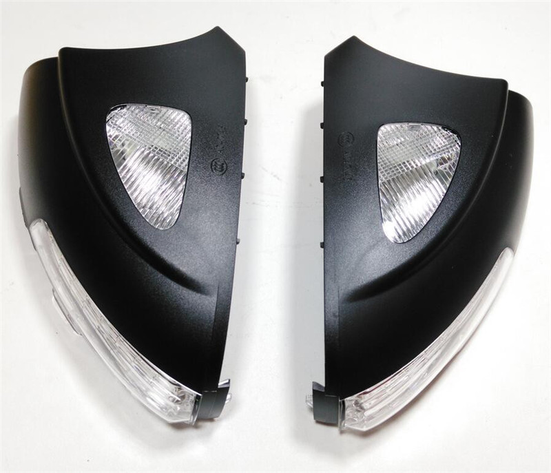 A PAIR OEM# 5N0 949 101/102 Rearview mirror Turn signal with light bulbs Side mirror LED light for VW Sharan Tiguan
