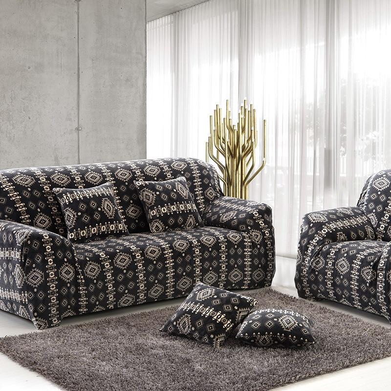 Thick Velvet Plush Sofa Slipcover Pixel Stretch Fashion couch cover Grey,Purple Sofa cover Anti Mite Manta Warm Use Living Room