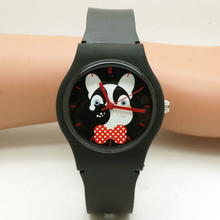 Cartoon MiNi Dog Design Boy Girls Kids and Student Women Wrist Waterproof Quartz Watch hansying nostalgia newspaper and coffee creative design boy girls kids waterproof quartz watch suitable women men watch
