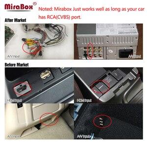 Image 5 - Mirabox 5G lusterko samochodowe link Box dla iOS12 z portami HDMI i CVBS (AV) lusterko samochodowe link Box dla androida wsparcie Youtube