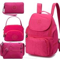 ACEPERCH Women Original School Backpack For Teenage Girl Mochila Feminina Escolar Female Monkey Backpack Nylon Waterproof Bag