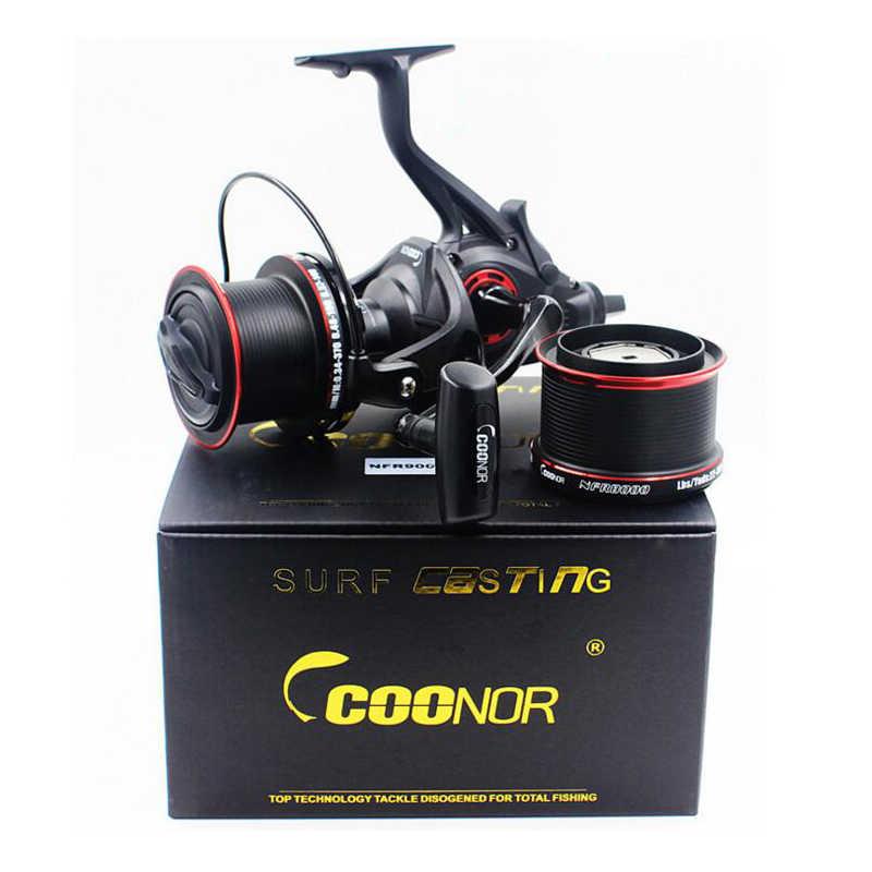Bobing COONOR NFR9000 + 8000 12 + 1BB 4.6:1 Full Metal Bobina di Filatura di Pesca con Doppia Bobina Manico Pieghevole per la Pesca Pesca
