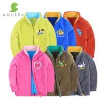 Svelte Brand Autumn Winter Children Boys Polar Fleese Bear Outerwear Kids Boys Faux Mink Fur Jacket