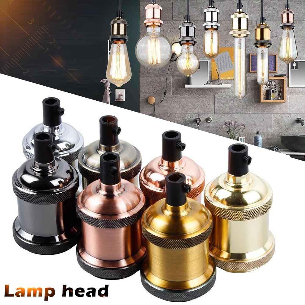 1 Pcs Vintage Edison Lamp Socket Pendant Light E27 Screw Bulb Base Aluminum Light Socket LKS99