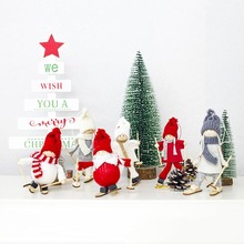 Creative Christmas Angel Girl Ski Pendant Christmas Decoration For Home Xmas Cute Doll Party Christmas tree Decoration