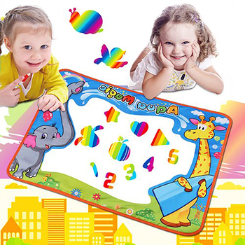 1PCS Magic Water Drawing Mat with 2PCS Magic Water Pens Doodle Mat Painting Toy Funny Drawing Toys For Children Birthday Gifts 80x60cm water drawing mat