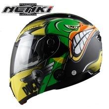 Бесплатная доставка, 1 шт. NENKI точка двойной козырек флип анфас модульная КАСКО Гонки шлем велосипед Мотокросс мотоциклетный шлем