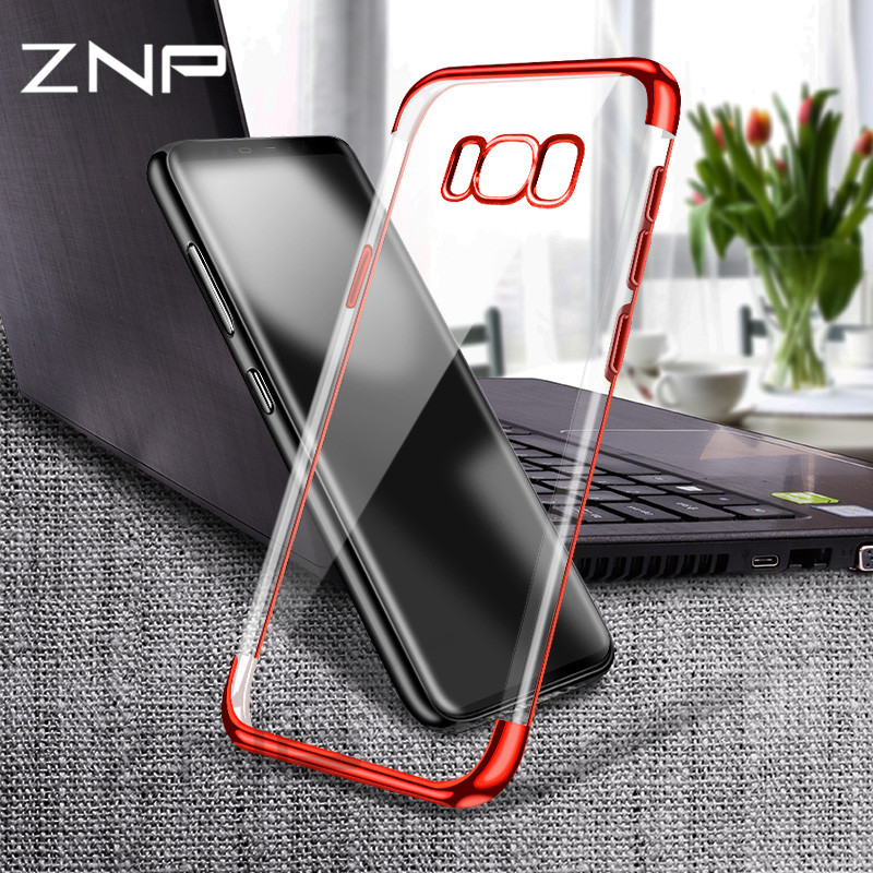 ZNP Ultra Thin Soft TPU Case For Samsung Galaxy A5 A7 J7 J5 S9 S8 Plus S7 S6 Edge Pating soft Case For Samsung A5 A7 S9 S8 Cover