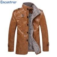 Encontrar Winter Warm Thick Leather Jacket Men Large Size Faux Fur Leather Jacket Men Plus Size