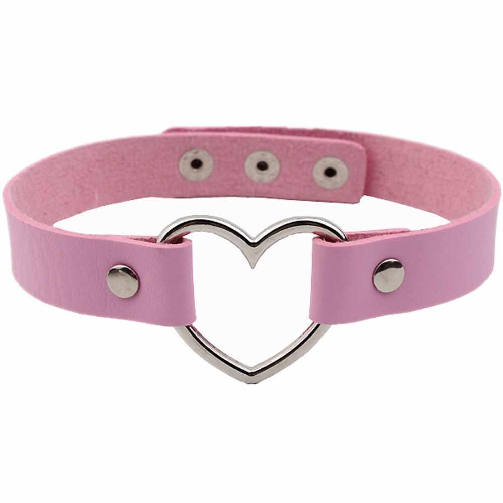 Сексуальное панк готическое кожаное ожерелье-чокер с шипами в виде сердца, ожерелье с шипами и заклепками, ожерелье-ошейник для женщин, хорошее ювелирное изделие, подарок