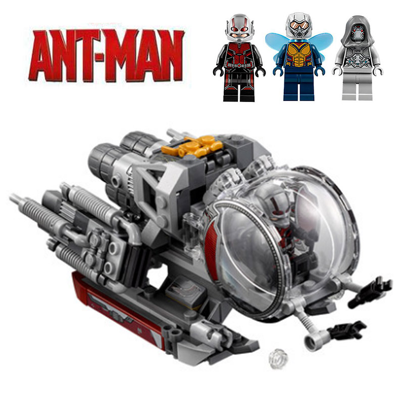 Marvel Super Heroes Ant-Man and the Wasp Quantum Realm Explorers Building Block 224pcs Brick Toys Compatible With Legoings 76109 manluyunxiao 2018 movie ant man and the wasp cosplay costume halloween carnival wasp costume for women jumpsuit custom made