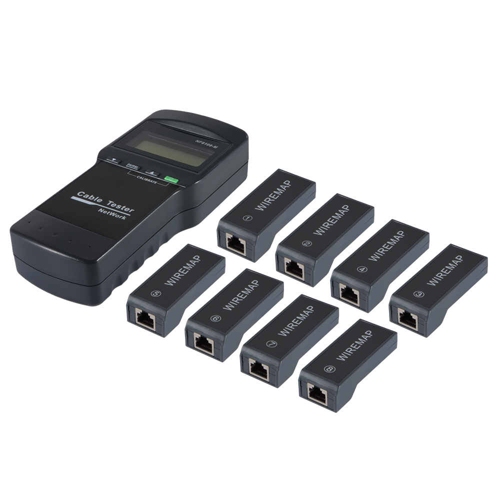 Network Cable Tester Meter LAN RJ45 Phone Wire Cat5 Cat6 Coaxial 8 ...